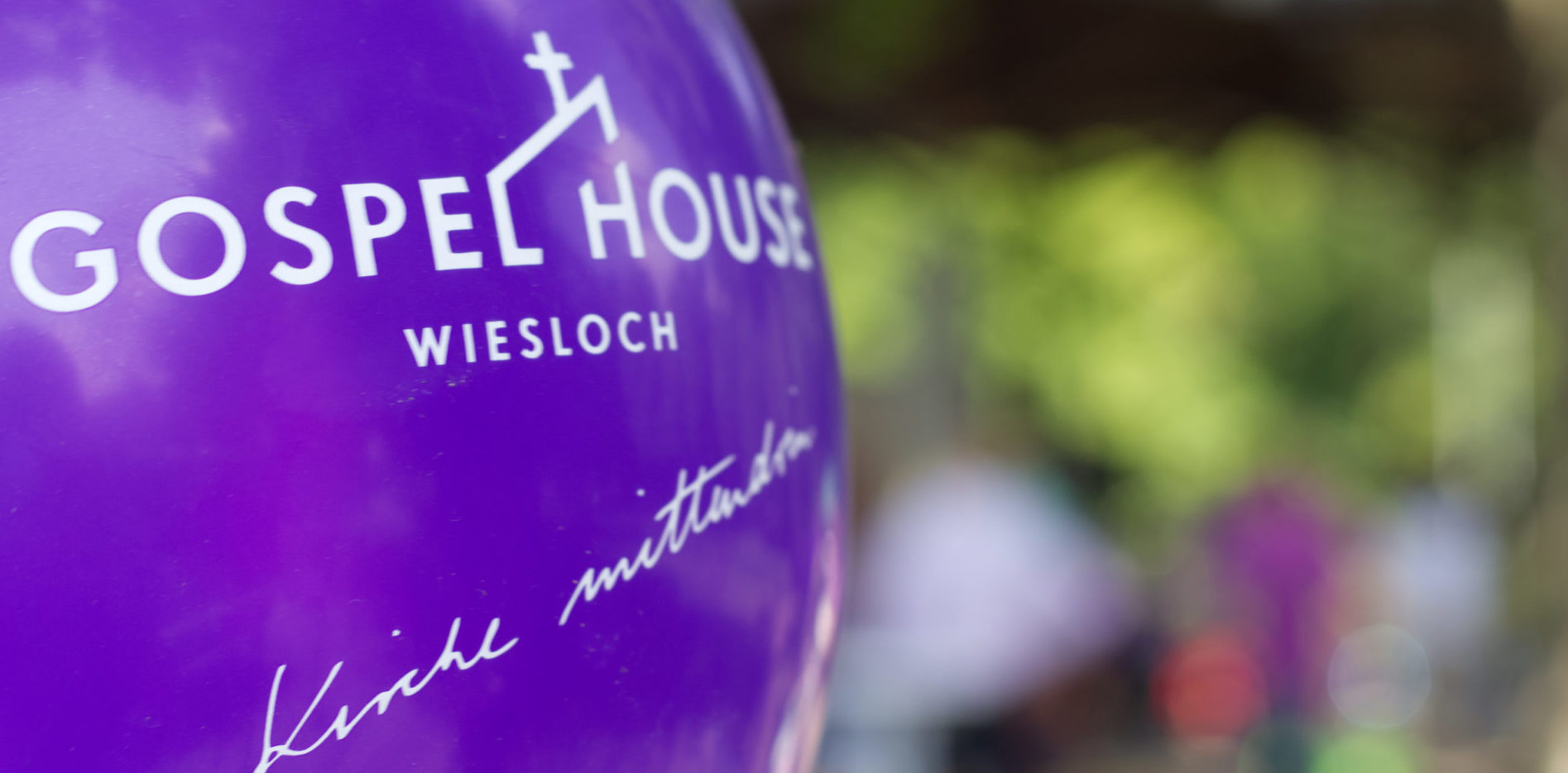 Ballon mit Gospel House Logo